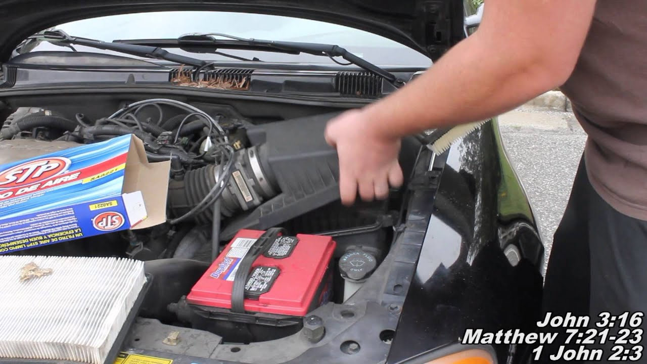 air filter remove replace how to pontiac grand am [ 1280 x 720 Pixel ]