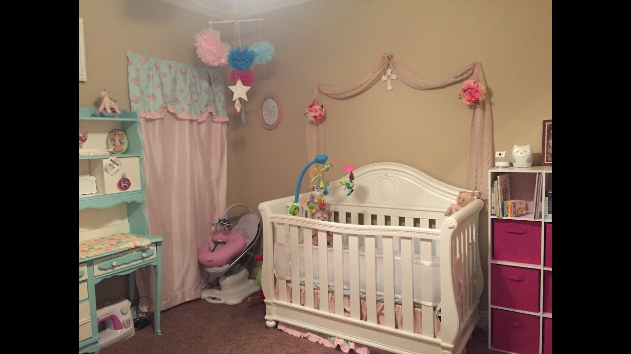 shabby chic baby girl nursery design decoration. Black Bedroom Furniture Sets. Home Design Ideas