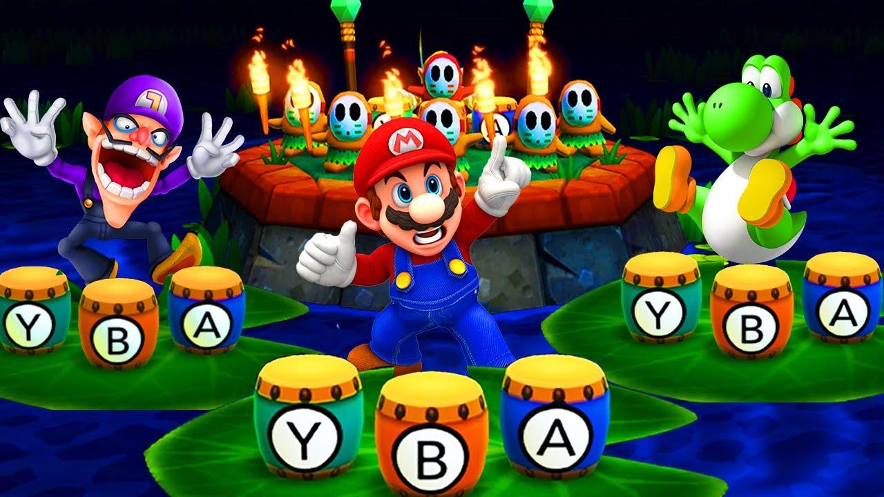 Mario Party The Top 100 Minigames - Mario vs Daisy vs Yoshi vs Waluigi