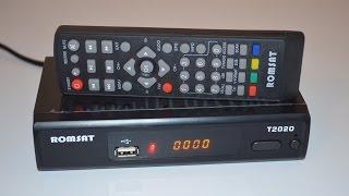 DVB-T2 Тюнер (ресівер) Т2 Romsat T2020 (Romsat T2 Ultra) огляд та налаштування