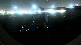 Emirates A380 Landing Dubai (with After Landing Announcement)