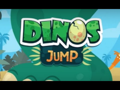 Dinos Jump Part 1 - Dinosaur action game for kids - iPad app demo for kids - Ellie