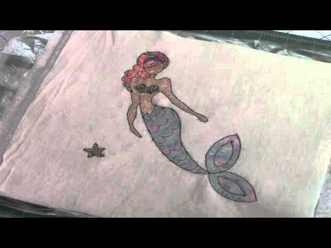 Coloring with Watercolor Pencils on Fabric - YouTube