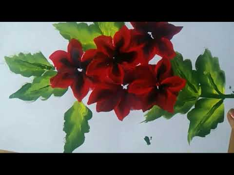 Acrylic painting technique-one stroke flower Painting/easy painting for beginners/ Gift for Teacher