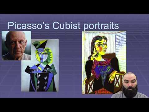 picasso's cubist portraits intro lesson