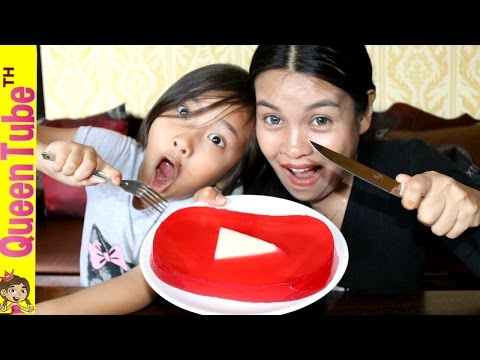 โล่ห์ยูทูป กัมมี่ ทำเอง กินได้ด้วย | DIY Edible YouTube Gummy Play Button QueenTubeTH ✔︎