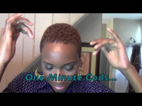 tutorial 1 minute coils short hair don t care youtube