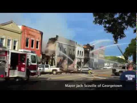georgetown historic front street fire sept 25 2013 in south