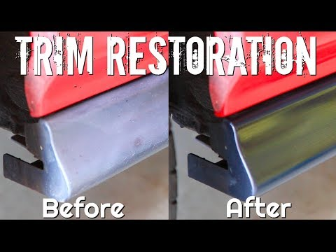 How To CLEAN and Restoration of Faded Black Plastic Trim!