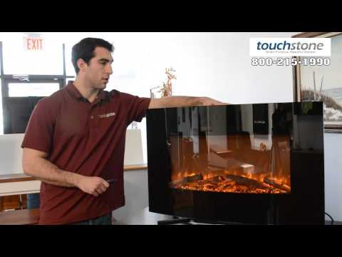 """Touchstone Yardley 36"""" Curved Electric Wall Mounted Fireplace"""
