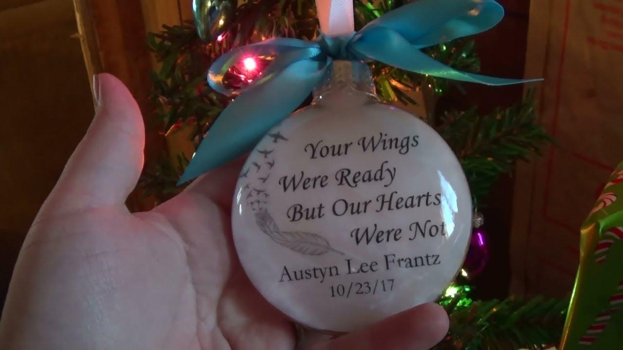 Memorial Christmas Ornaments.New Memorial Christmas Ornament Vlog 12 10 17