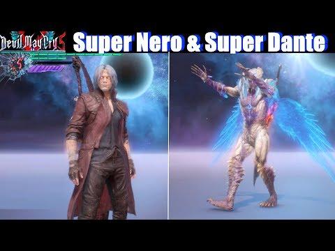 DMC 5 Super Dante & Super Nero Unlocked Showcase - Devil May Cry 5 2019 thumbnail