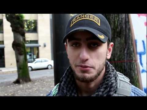 US Marine and Iraqi Special Forces Veteran meet at Occupy Portland