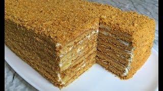 Быстрый МЕДОВИК Без Раскатки Самый Простой Рецепт!!! / Медовый Торт / Honey Cake