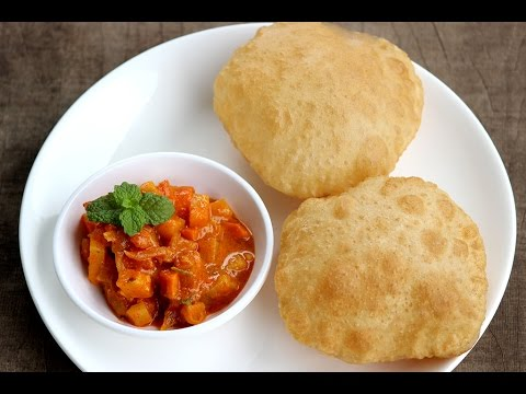 Poori recipe - soft,puffy hotel style puris with Aloo curry recipe