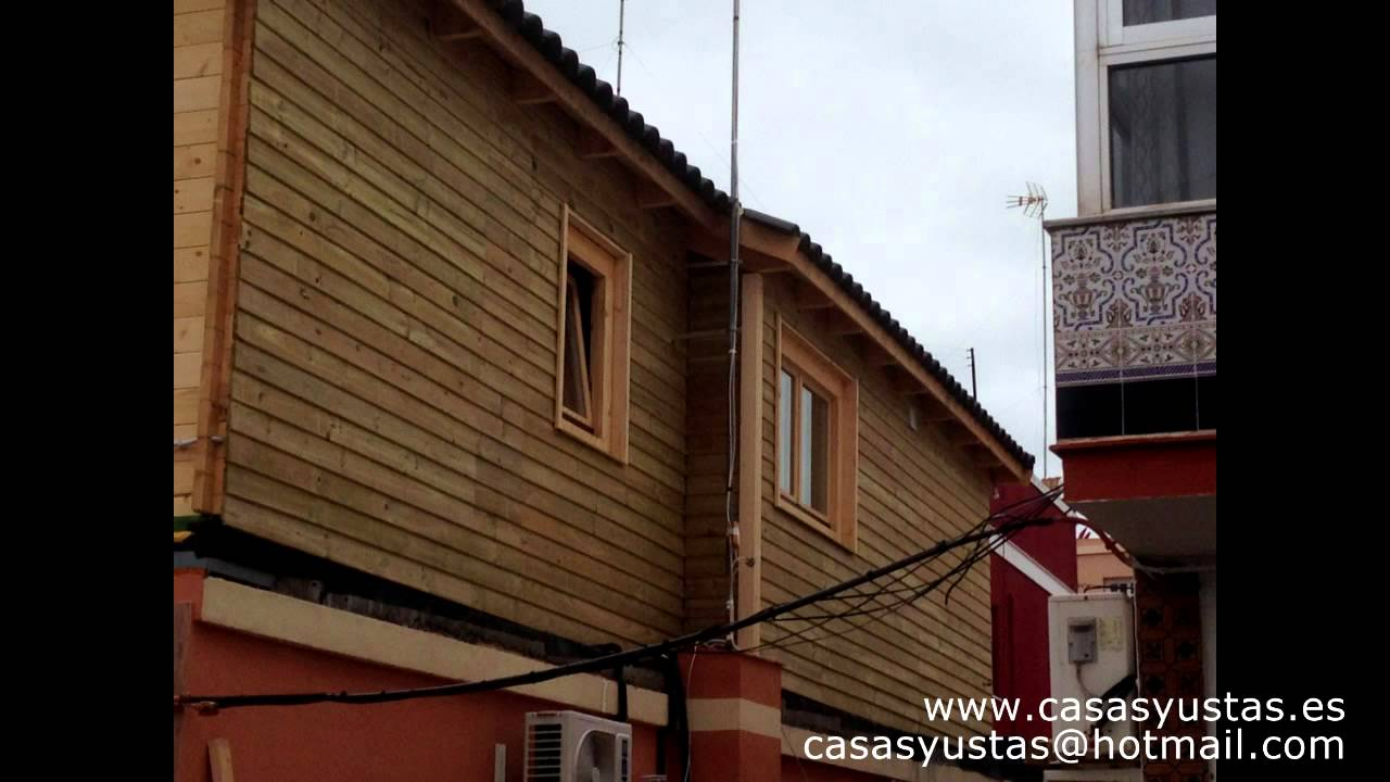 Montaje casa de madera modelo javier en azotea youtube - Madera para casa ...