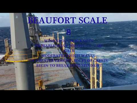 Beaufort Scale 0 - 12 Crossing Pacific Ocean