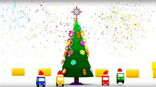 Lehrreicher Zeichentrickfilm - Die 4 kleinen Autos - Wo ist denn der Christbaumschmuck?