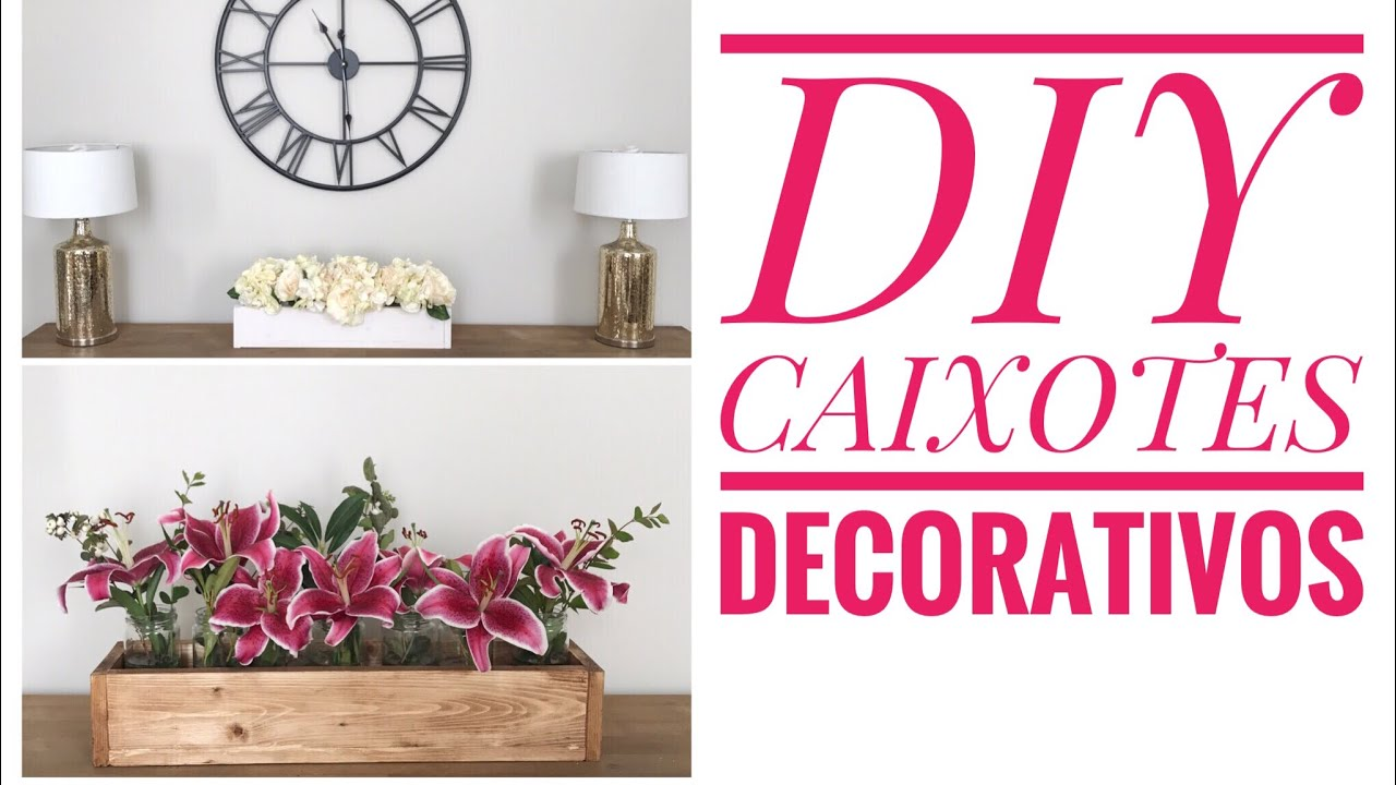 ccd3169f67d Diy caixote de madeira - centro de mesa - arranjos decorativos - YouTube