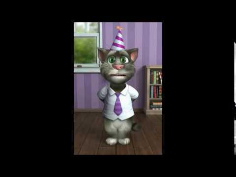 TALKING TOM CAT SINGS HAPPY BIRTHDAY TO ABNER
