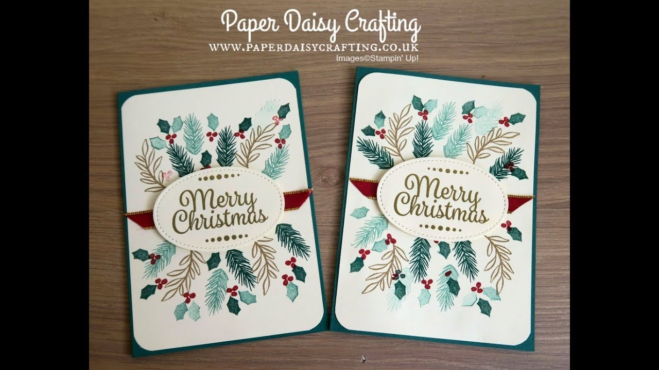 Peaceful Noel From Stampin Up Christmas Card Youtube