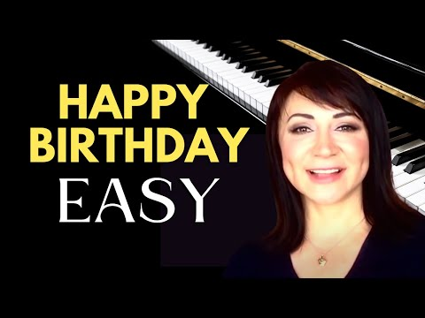 Happy Birthday - Easy Piano Tutorial/Sheet Music
