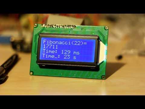 Fibonacci on Arduino ATMega328 16MHz with Timings