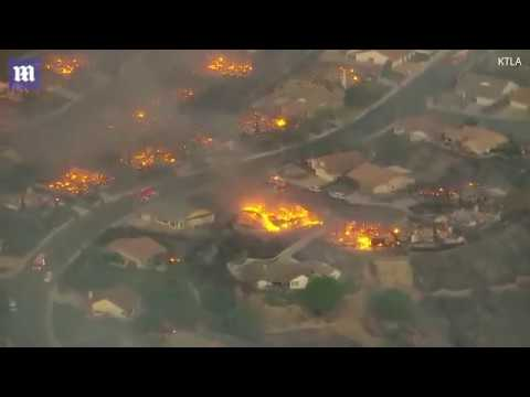 All view about Ventura County, Southern California on fire looks from the sky | Last News |