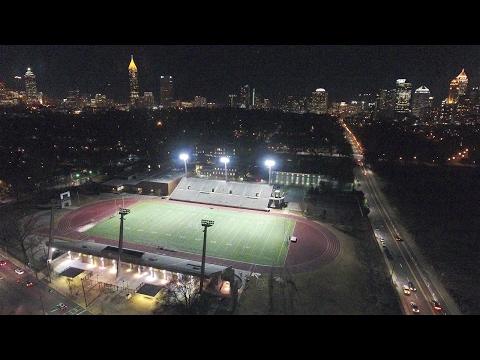 4K UAV/Drone Views of Midtown Atlanta Skyline at Nightfall