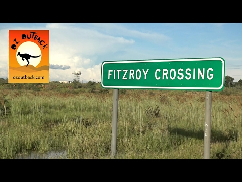 Drone footage of flood in northern Australia town - Fitzroy Crossing, Western Australian outback!