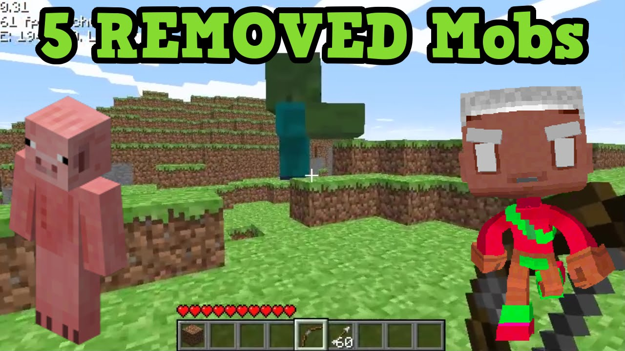 Minecraft - 5 REMOVED Mobs (Old Minecraft Mobs) - YouTube