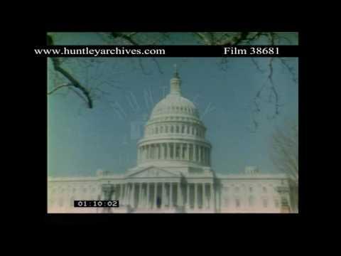 Capitol Building Washington D.C., 1980's.  Archive film 38681
