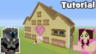 """Minecraft Tutorial: How To Make GamingWithJens House! """"Popularmmos House"""""""