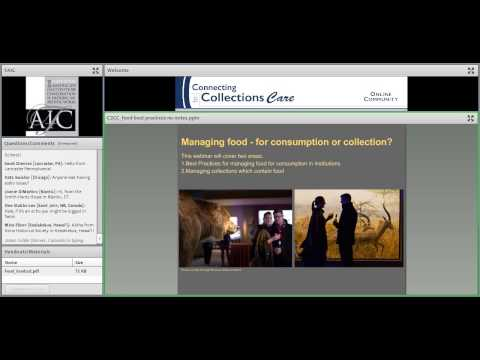 """C2CC Beyond """"No Food or Drink in the Gallery"""": Food Management Strategies for the Real World"""