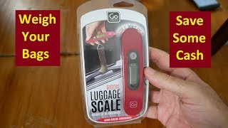 Go Travel Digital Luggage Scale Review - Weigh Your Bags; Travel Light; & Avoid Luggage Fees