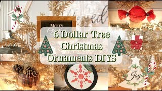 6 DOLLAR TREE CHRISTMAS ORNAMENTS | DIY CHRISTMAS DECORATIONS