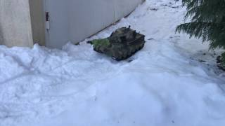RC Tank  King Tiger 116  First winter driving