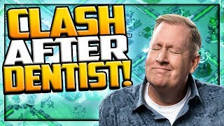 Clash After Dentist! Clash of Clans Clan War League LIVE Attack OOPS.