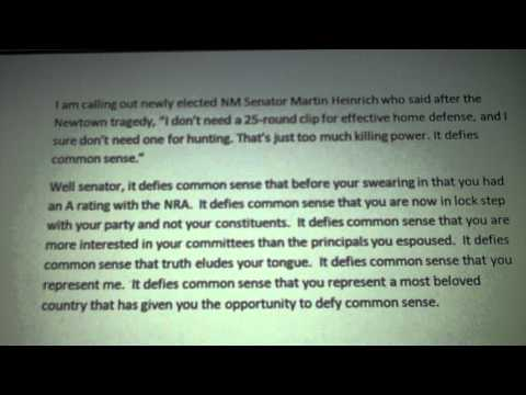 Calling Out NM Senator Martin Heinrich