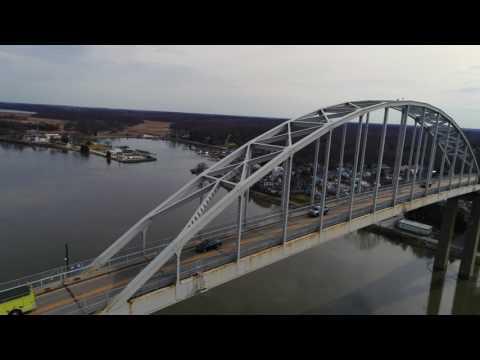 Drone around the bridge | Phantom 4 Pro | 4k Chesapeake City, MD
