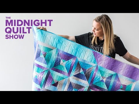 """""""Split Square"""" QST Strip Quilt with RULER QUILTING 