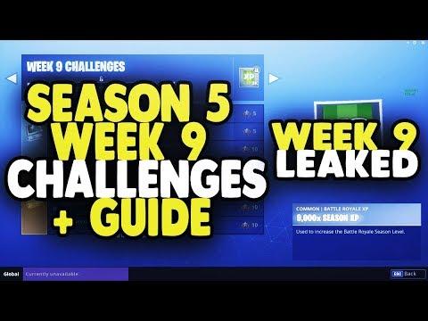 *NEW* Fortnite SEASON 5 WEEK 9 CHALLENGES LEAKED + GUIDE! ALL SEASON 5 WEEK 9 CHALLENGES!
