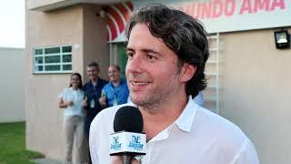 Ciro Thomaz na inauguração do prédio sede da FM Jangadeiro Limoeiro 100.1