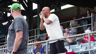 Heckler entertains at Syracuse Chiefs' games