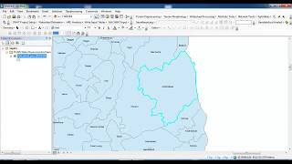 How to clip any district from country shapefile in ArcGIS