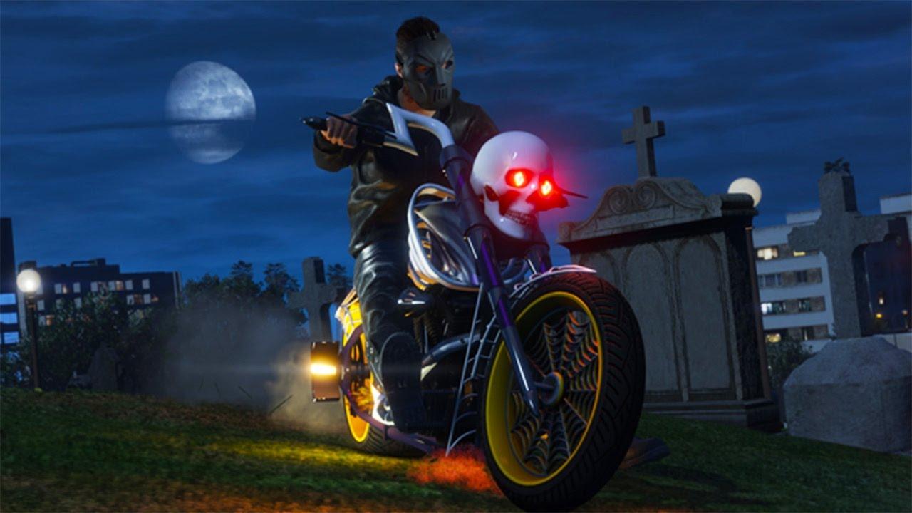 GTA 5 DEATH BIKE! HALLOWEEN DLC!!! (GTA 5 NEW DLC)