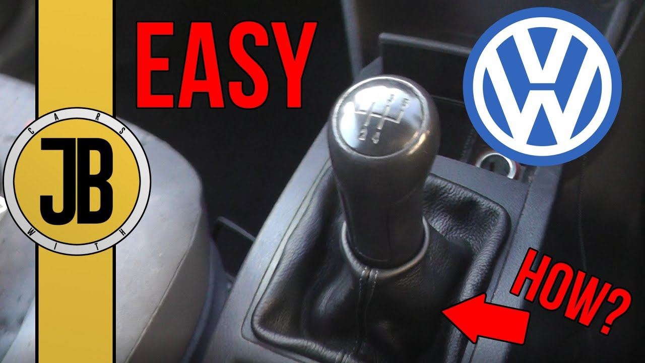 For VW Polo GTI 9N 9N2 2002-2010 Car 5 Speed Gear Shift Knob With Leather Boot