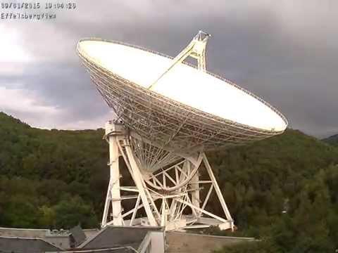 Radioteleskop Effelsberg Eifel Germany 02 September 2015 24h Zeitraffer Timelapse Radio Telescope