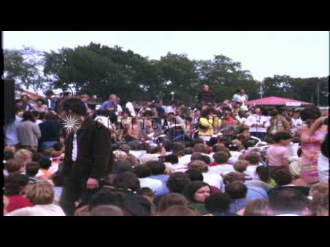Hippies and Yippies demonstrate at Lincoln Park during Democratic National Conven...HD Stock Footage