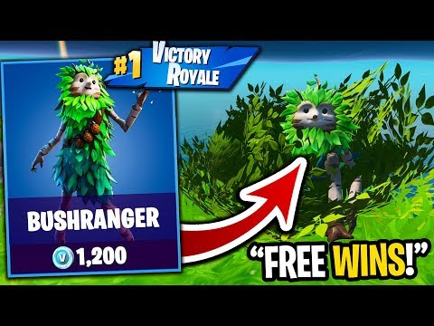 PRETENDING TO BE A BUSH = FREE WINS IN FORTNITE! (easy)